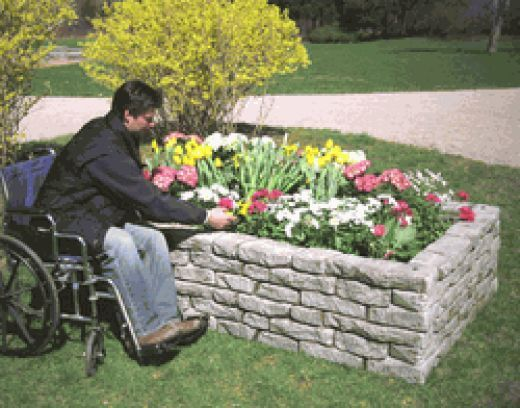 How to Build a Concrete Raised Bed Garden for the Disabled ... Raised Bed Vegetable Gardens Design Disabled on raised vegetable gardens for beginners, greenhouse designs, raised bed garden soil, raised garden bed corners, raised garden bed ideas, raised bed planting layout guides, block raised bed garden designs, rose garden beds designs, raised bed pond designs, raised vegetable garden box, raised bed vegetable planting, raised vegetable bed material, raised garden bed kit, creative raised garden bed designs, raised vegetable garden design ideas, raised bed vegetable gardening, raised garden boxes, raised bed garden layouts, raised garden bed designs wood, raised veggie garden ideas,