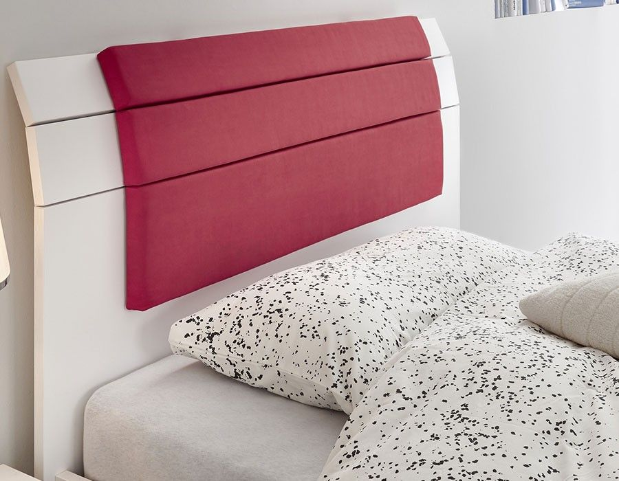 Lit Ado Design Rouge Et Blanc NATHEO Lit Design Pinterest Rouge - Lit design rouge