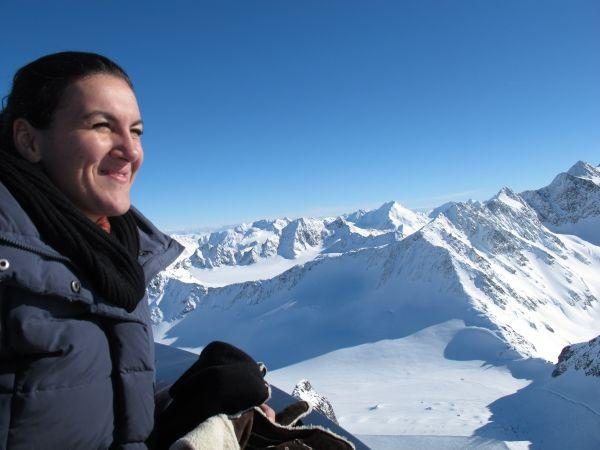 Die Aussicht macht high, wie der Wein: Pitztaler Gletscher. Foto: Margret