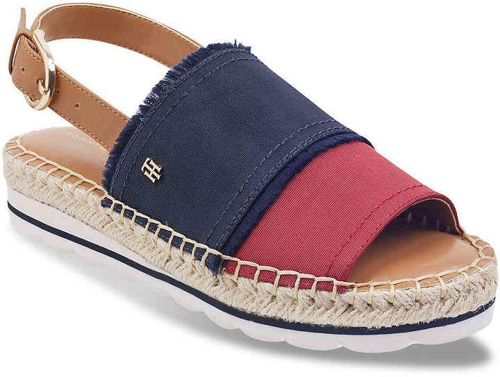 Tommy Hilfiger Women S Grove Espadrille Sandal Sapatos Femininos Confortaveis Sapatos Sapatilhas Da Moda