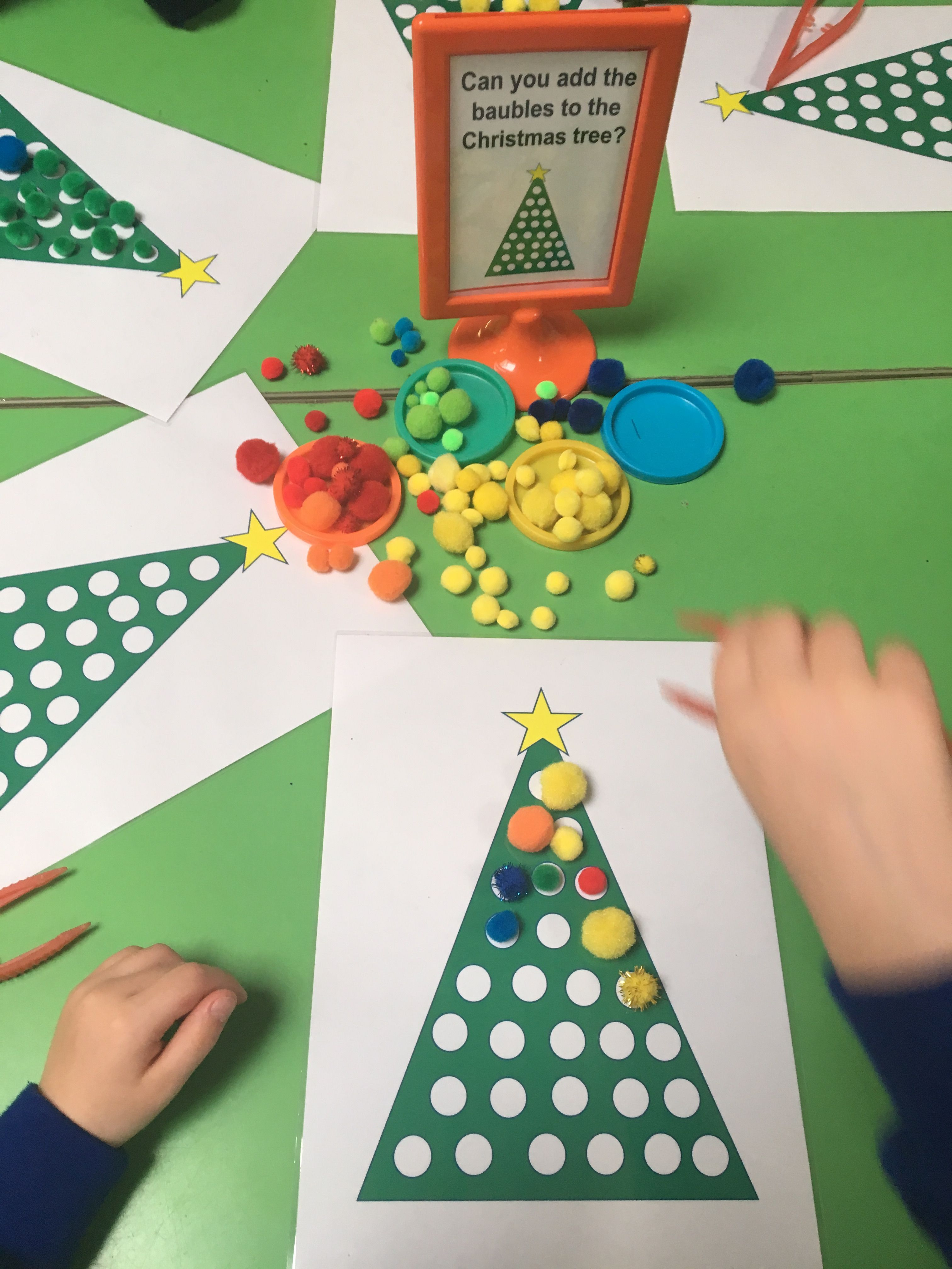 Early Years Christmas Tree Fine Motor Control
