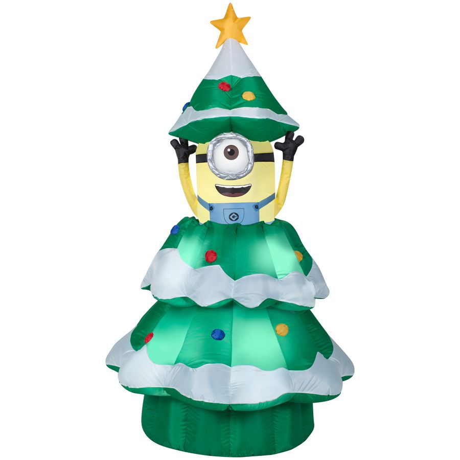Gemmy 6.98 Ft X 3.77 Ft Animatronic Lighted Minion Christmas Inflatable