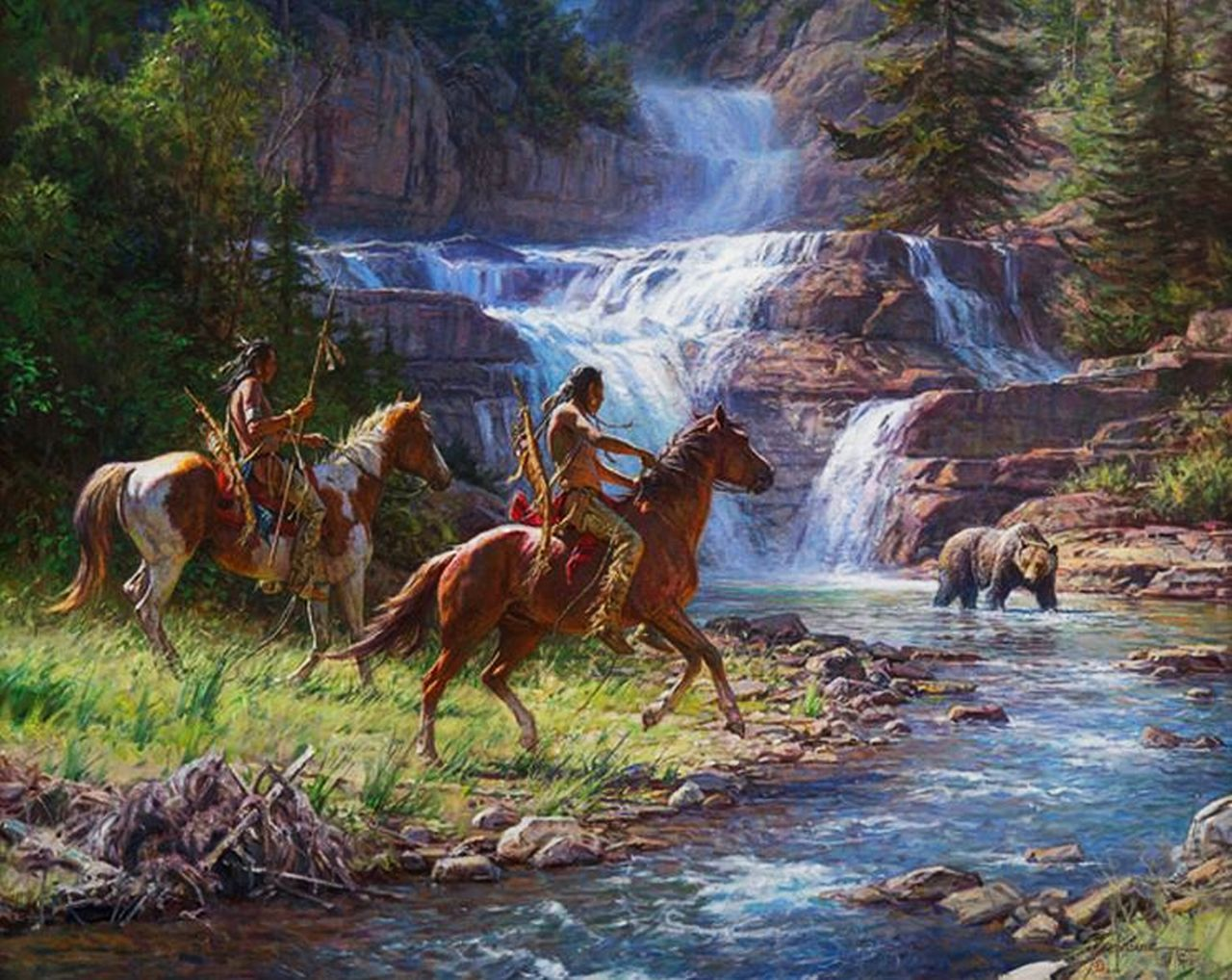 Martin Grelle - Encounter At the Falls | nativ americans ...