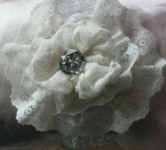 Rubysol  Ivory lace and bling by PsalmandSanaa on Etsy