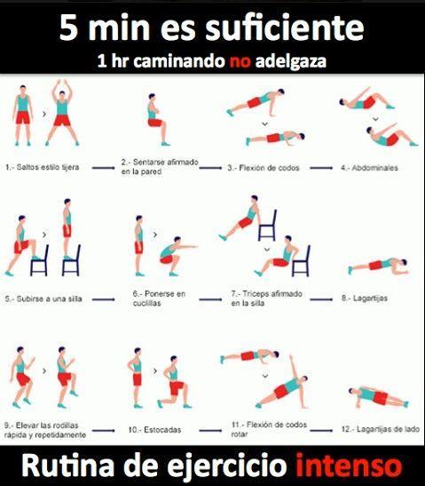 5 minutos de ejercicio intenso deporte estudiantes salud umayor entrenamientos y salud - Plan de entrenamiento en casa ...