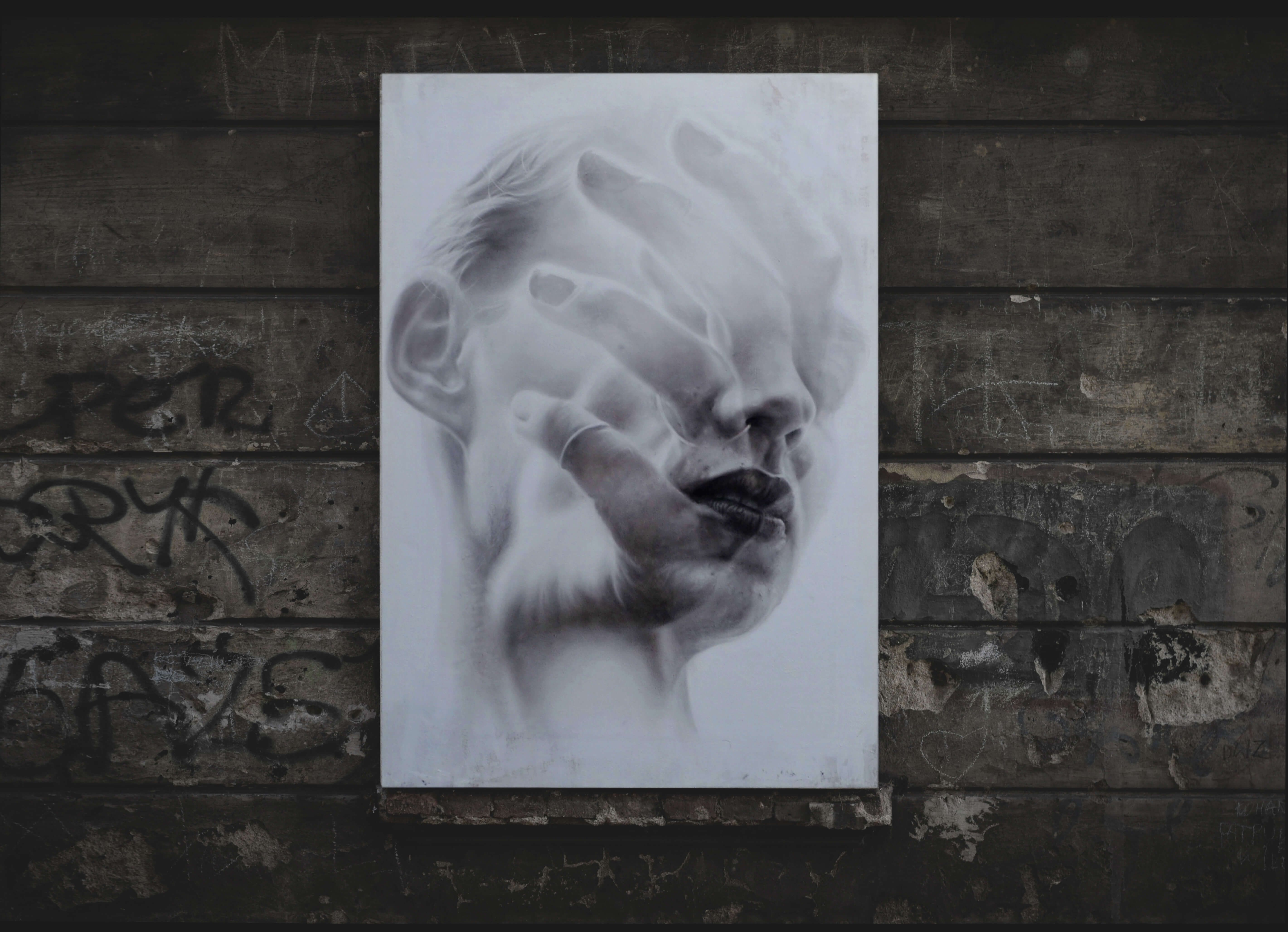 Oil painting title '' Fragile '' • Dimensions 150 X 105 X 7cm / Oil on Plywood • Weight 15 Kg • Sold • Owner: @kamilalochert  #art #streetart #painting #blackandwhite #fineart #artwork #drawing #creative #arte #portrait #theartshed #magicgallery #details #church #aartistic_dreamers #doublexposure #facepaint #feeling #naturepainting #spotlightonartist  #kunst #strassenkunst #modernekunst #spraypaint #urbanart #myart #newart #summerexhibition2017 #the_theclassyissue #summerexhibition…