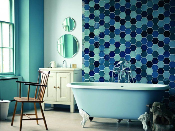 badezimmerfliesen wandgestaltung ideen mosaikfliesen grüne wände