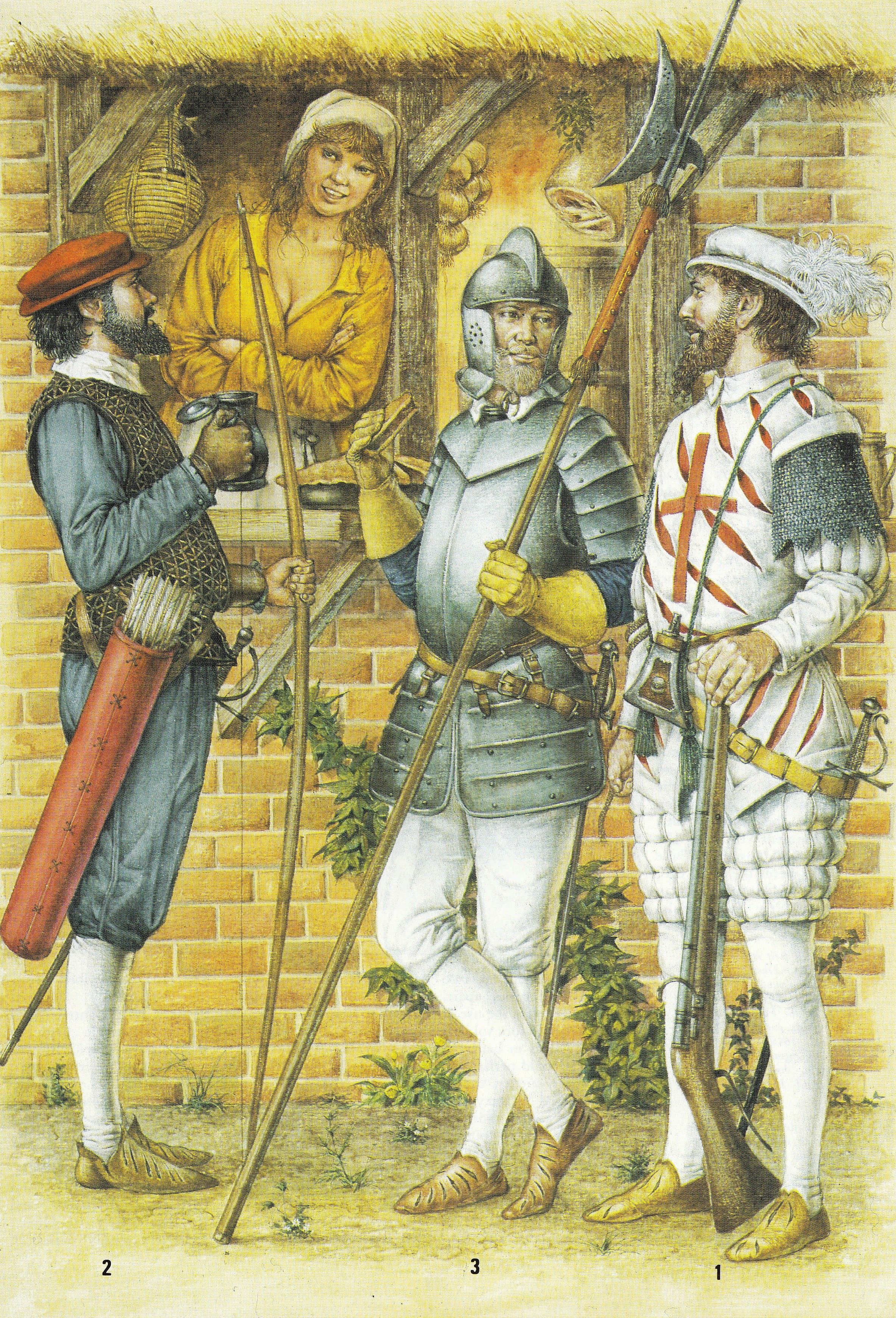 English Infantry Late 16th Century Inglese