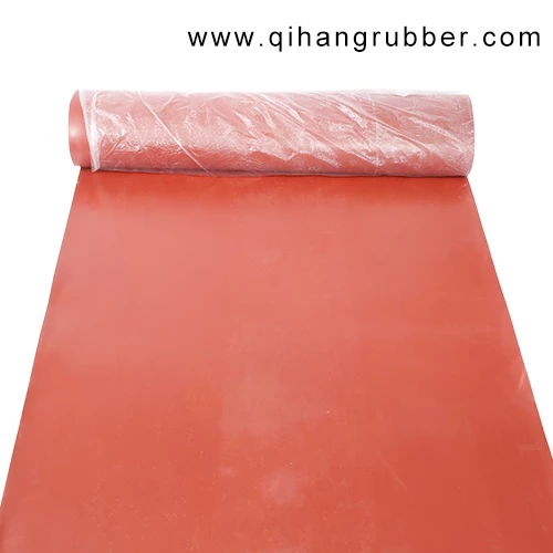 1m 10m 3mm Packaging Type Roll Coloured Flooring Matting Red Rubber Gasket Sheet Qihang Floor Mats Rubber Industry Flooring