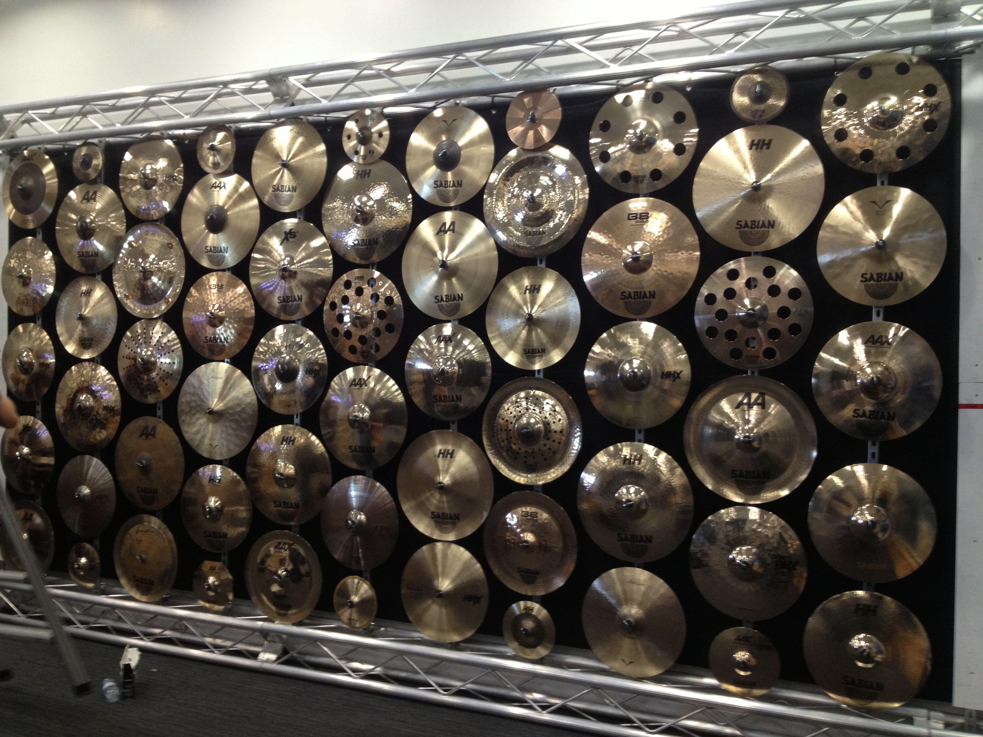 Wall Of Cymbals Zildjian Cymbals Cymbals Drum Kits