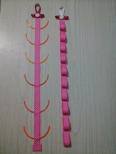 Organizador de accesorios para el cabello mis creaciones for Accesorios para decorar