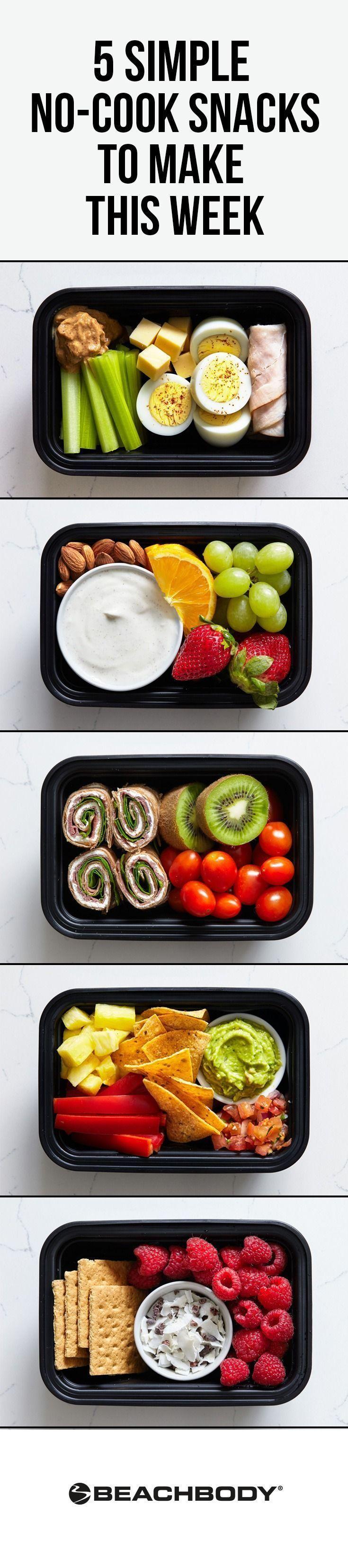 Keine Zeit für eine vollständige Mahlzeitvorbereitung? Diese No-Cook-Snackboxen lassen sich einfach...