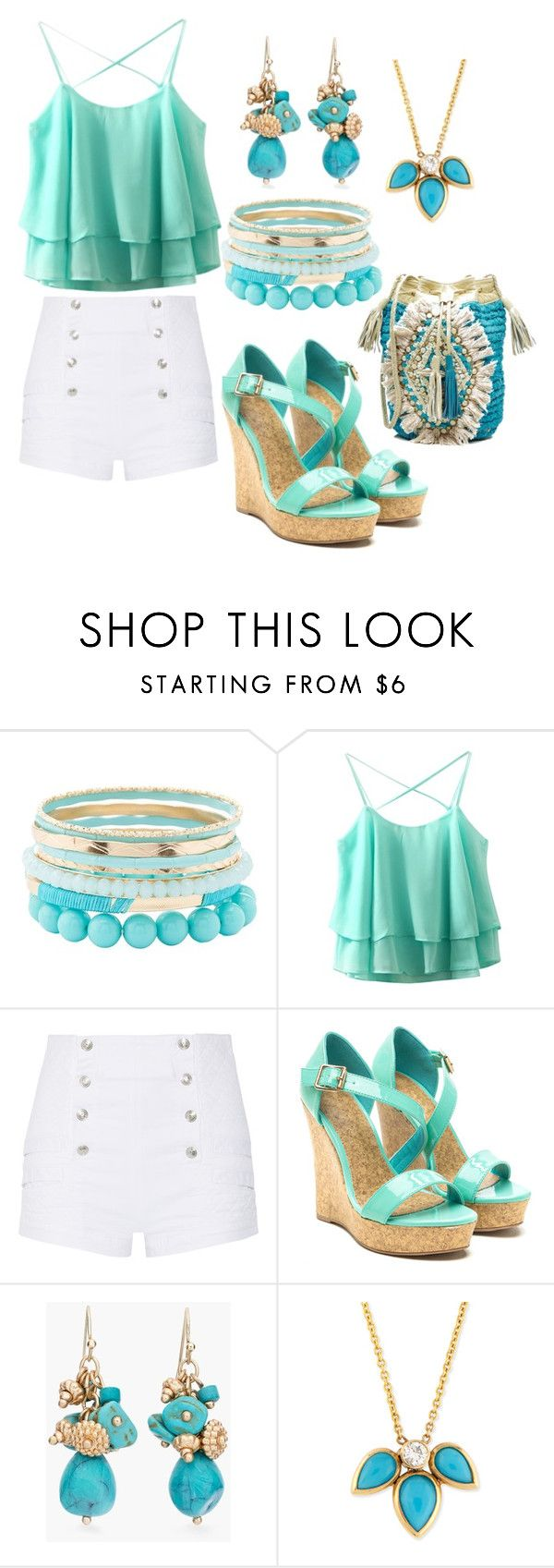 """""""Color of the Day 6/23: Turquoise"""" by abbyandelle ❤ liked on Polyvore featuring Charlotte Russe, Pierre Balmain, Chico's, ZoÃ« Chicco, Antik Batik, fashiontips, coloroftheday, AbbyAndElle and upstairsfashion"""