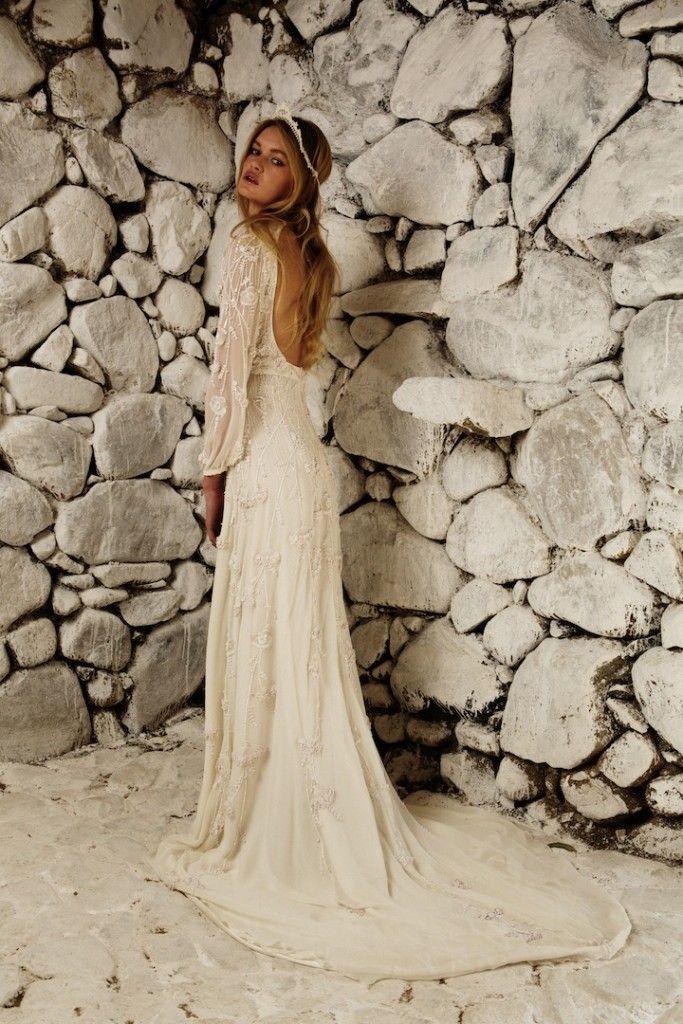 la moda boho chic ya llegado a los vestidos de novia. shannon