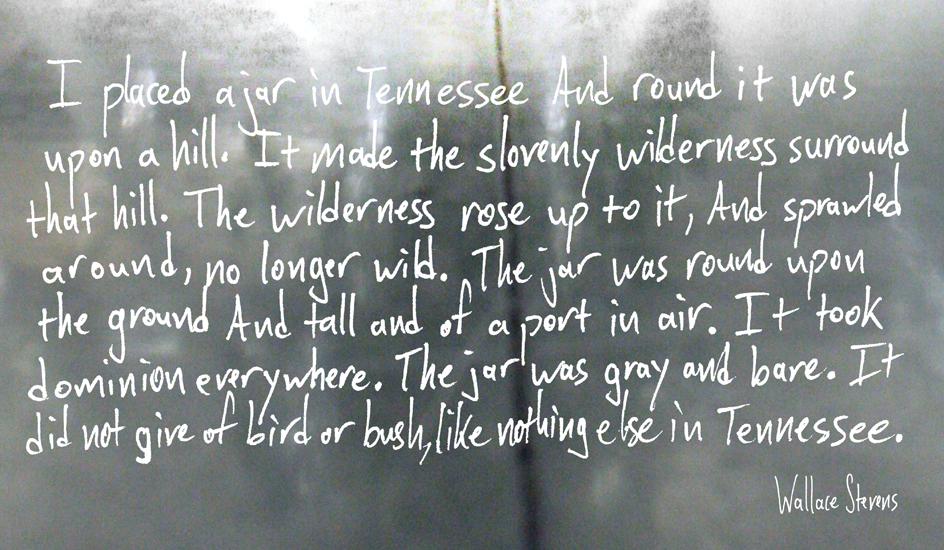anecdote of the jar essays