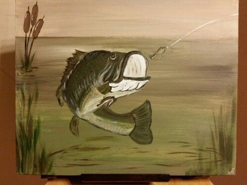 Image Result For Easy Animals Painting Canvas Canvas Art Painting Fishing Painting Canvas Canvas Art Projects