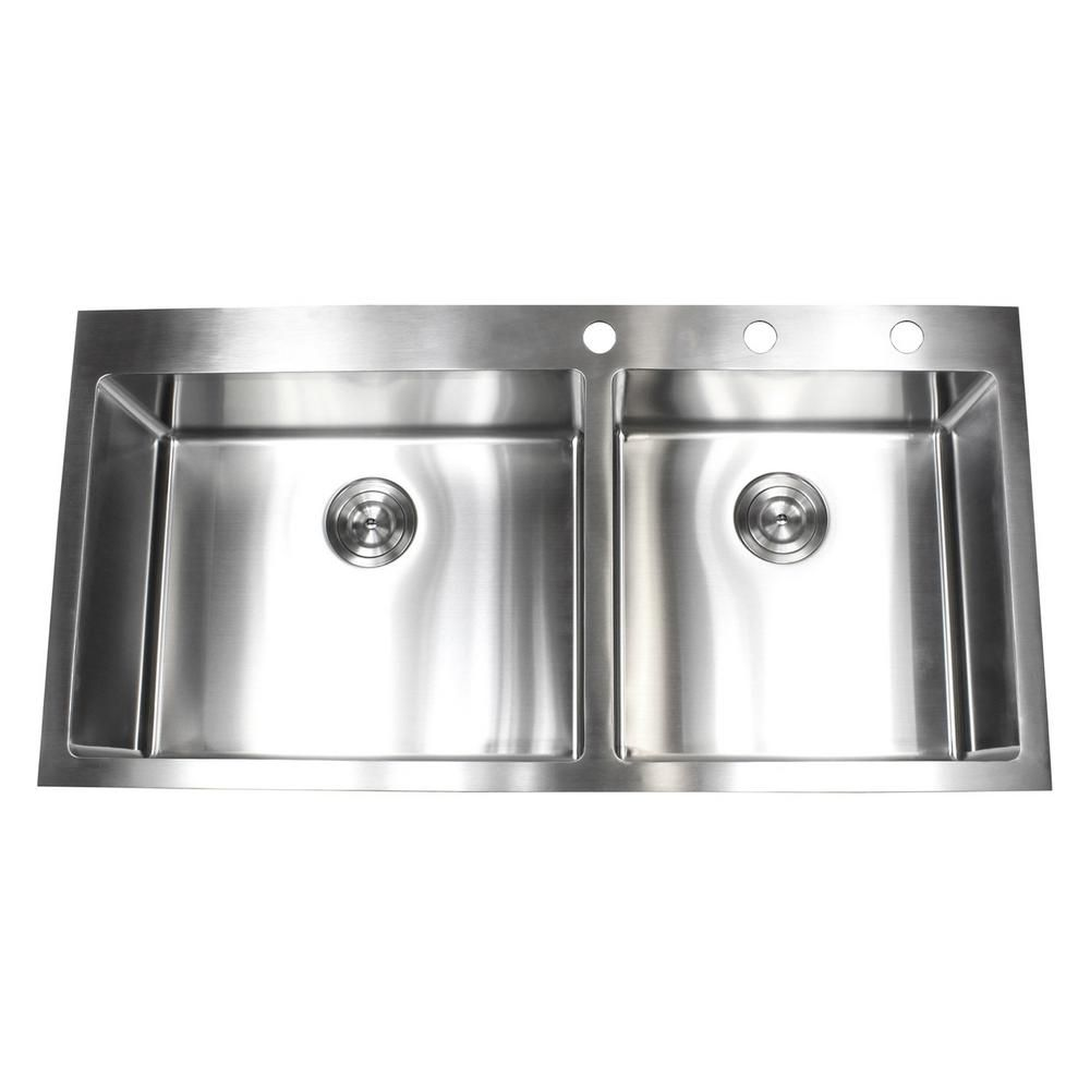 Emodern Decor Drop In Top Mount 16 Gauge Stainless Steel 42 7 8 In