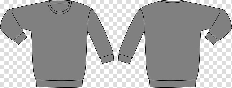 Gray Sweatshirt Hoodie T Shirt Sweater Template Bluza Template Transparent Background Png Clipart Hoodie Illustration T Shirt Sketch Supreme Sweater