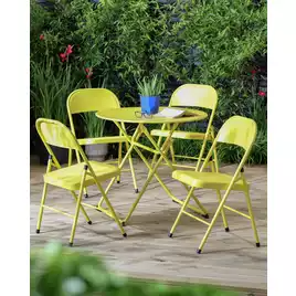 Buy Argos Home Bright 4 Seater Bistro Set Yellow Patio