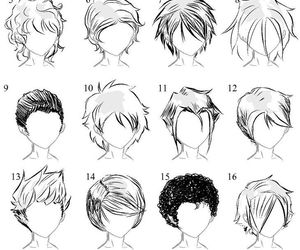 Male Anime Hair Styles Manga Hair Drawing People How To Draw Hair