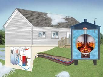 outdoor wood boiler this is how we heat our home and water and why