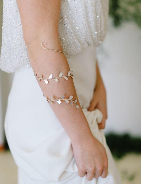 Bridal Accessories Golden Leaf Bracelet