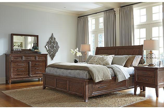 Medium Brown Mardinny Queen Platform Bed View 6 Bedroom