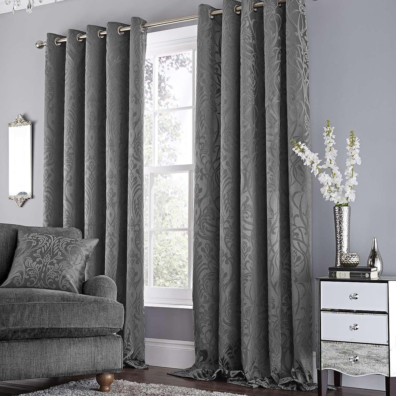 Harrow Grey Lined Eyelet Curtains Dunelm Grey Curtains Living Room Living Room Grey Curtains Living Room