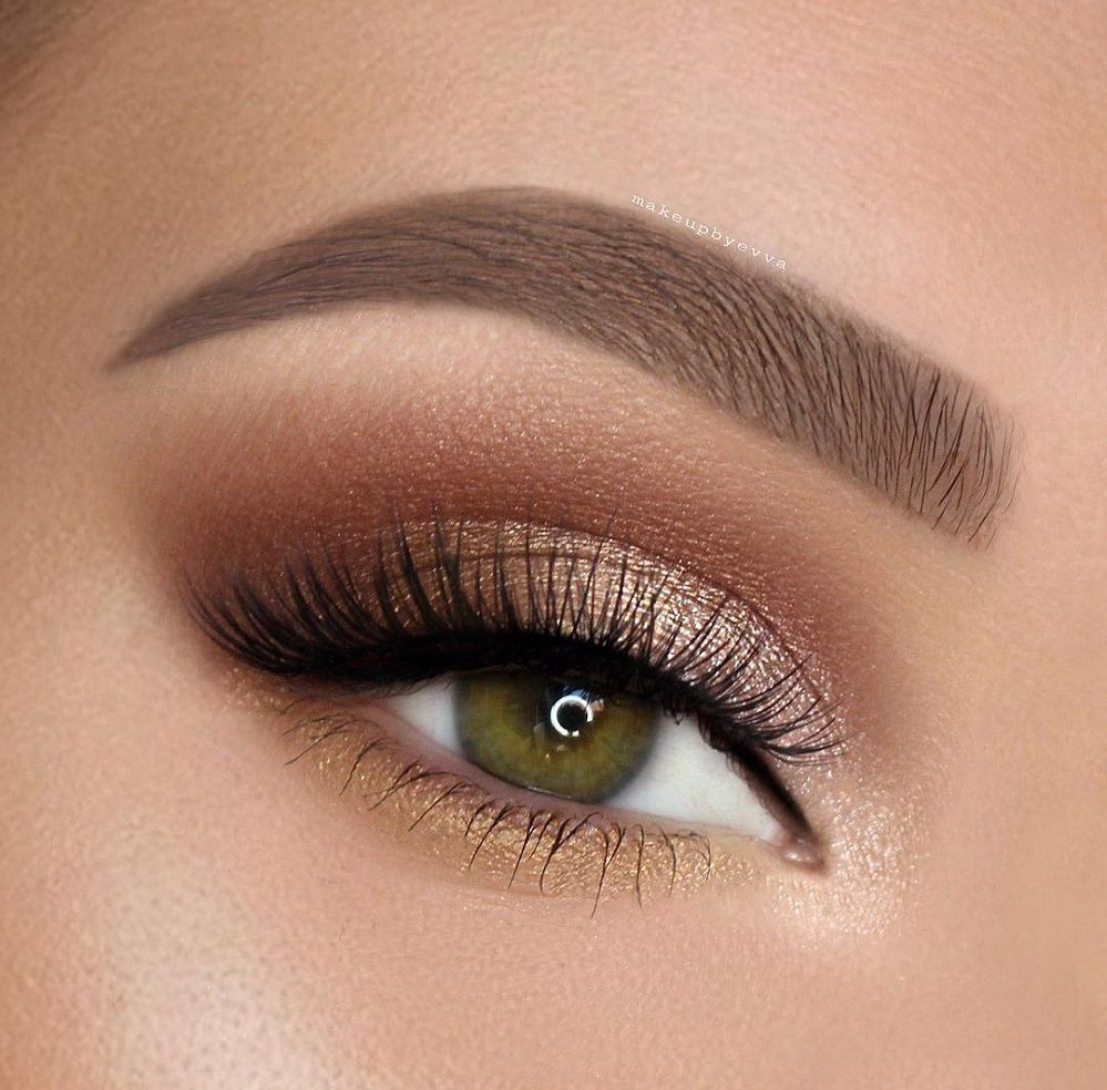Gorgeous eye makeup - eye shadow ,gold eye makeup ,eye makeup for brown eyes ,  ,#abh,eyeshadow #eyemakeup #sexyeyes #makeup #eyemakeupideas