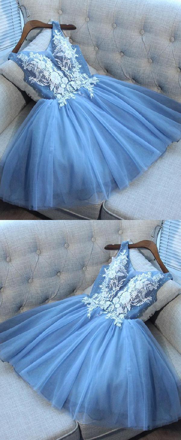 Cheap dazzling prom dresses lace blue prom dresses cute prom