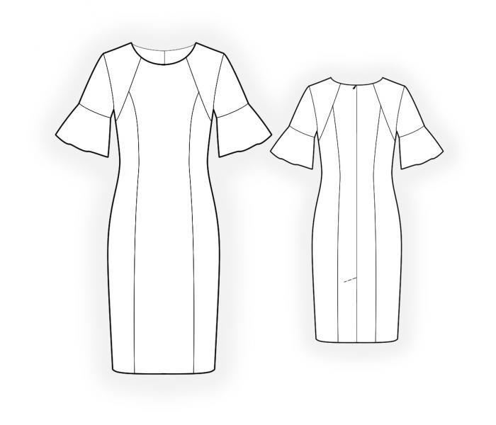 Dress In Two Colors - Patrón de costura #4426 Patrón de costura a ...