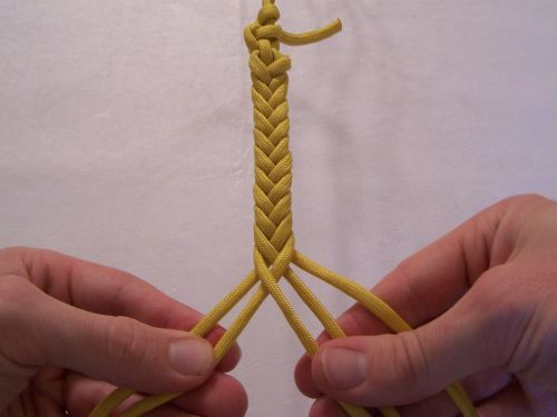 T J Potter Sling Maker Instructions For A 5 Strand Flat Braid