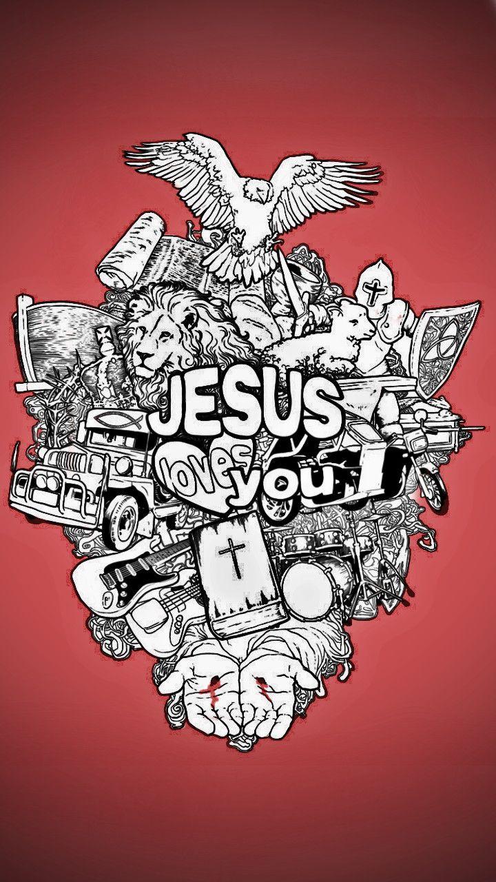 Jesús. Street Art Wallpaper for iPhone 5/5s, iPhone 6 & 6