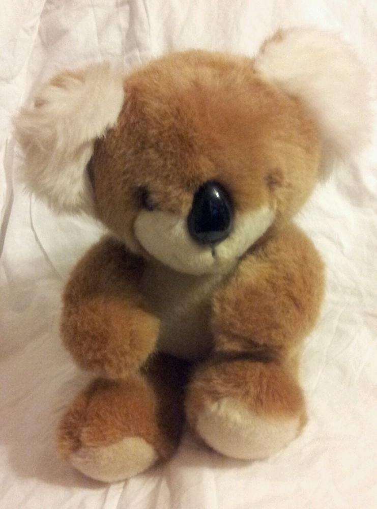 Vintage 1984 Dakin Tan Cream Brown Koala Bear Stuffed Plush Animal