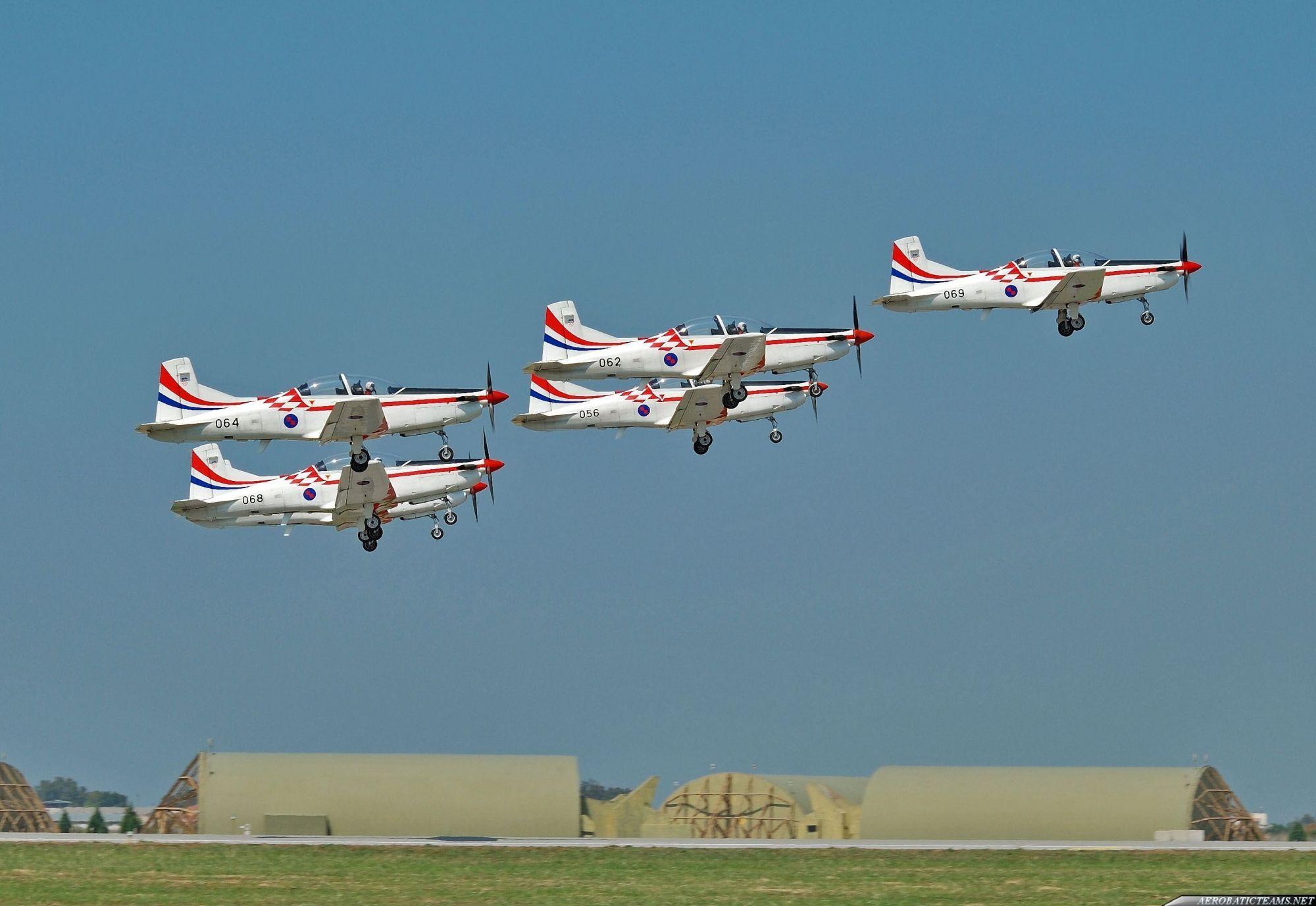 The Croatian Air Force aerobatic display team performed
