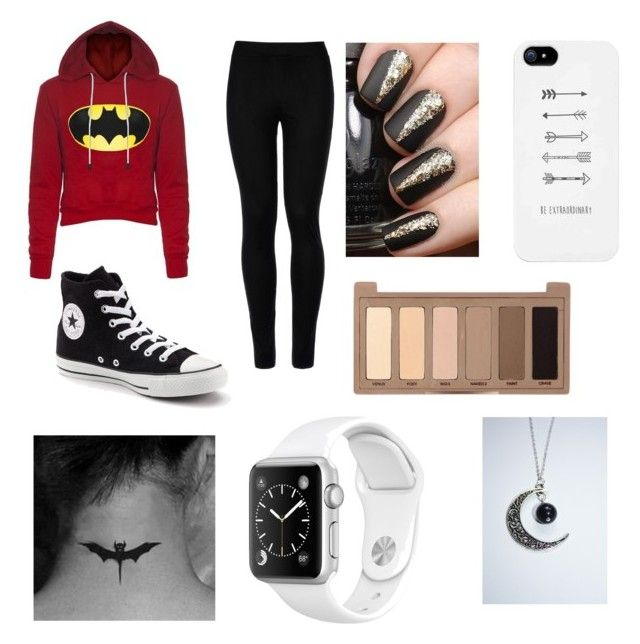 """""""If you're here, please say something"""" by piccolinaballerina ❤ liked on Polyvore featuring Wolford, Converse and Urban Decay"""