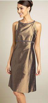09ddacdd9c04 Wedding guest attire: brown silk dress by Jones New York | Bridalwave
