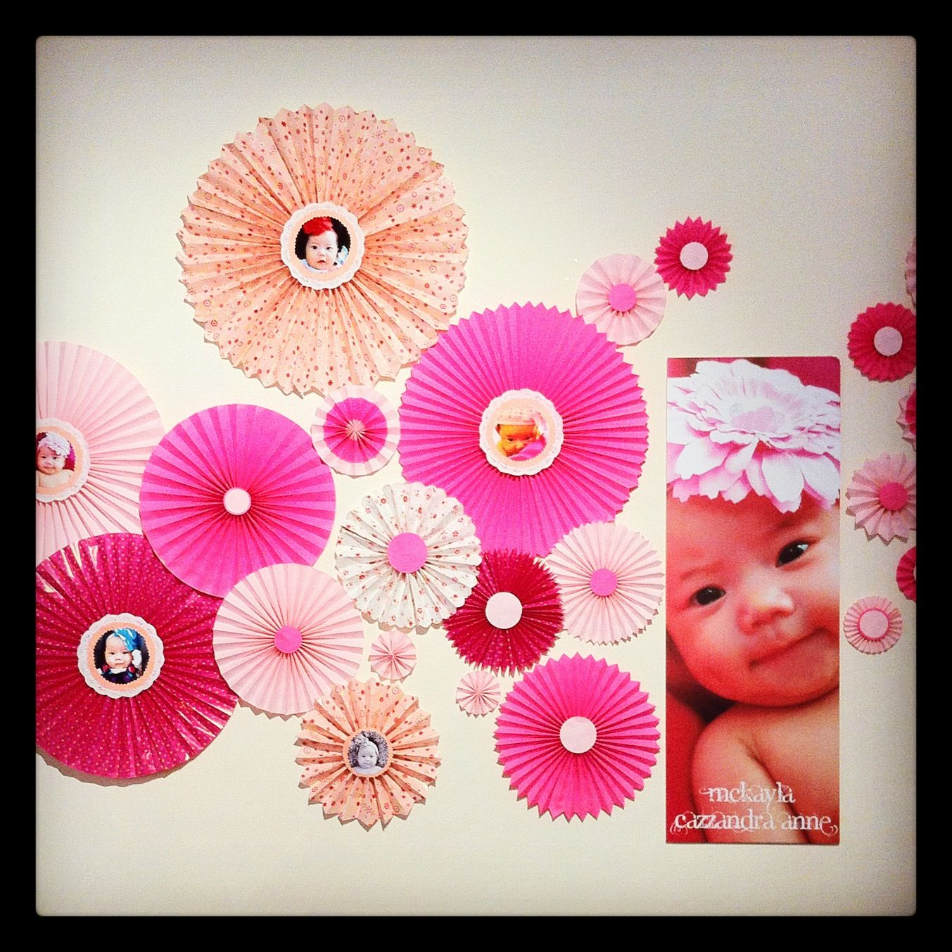 Photobooth backdrop. Christening. All DIY fans made of ...