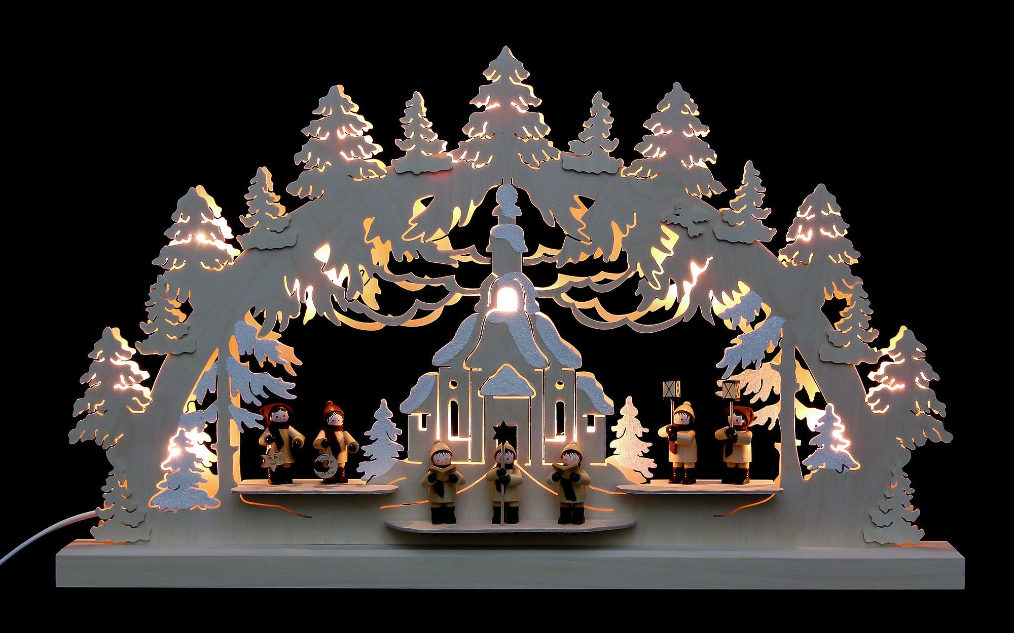 3d Double Arch Seiffen Church 62a 37a 5 5 Cm 24a 14a 2in By Michael Maœller Double Arches Christmas Arch Candle Types