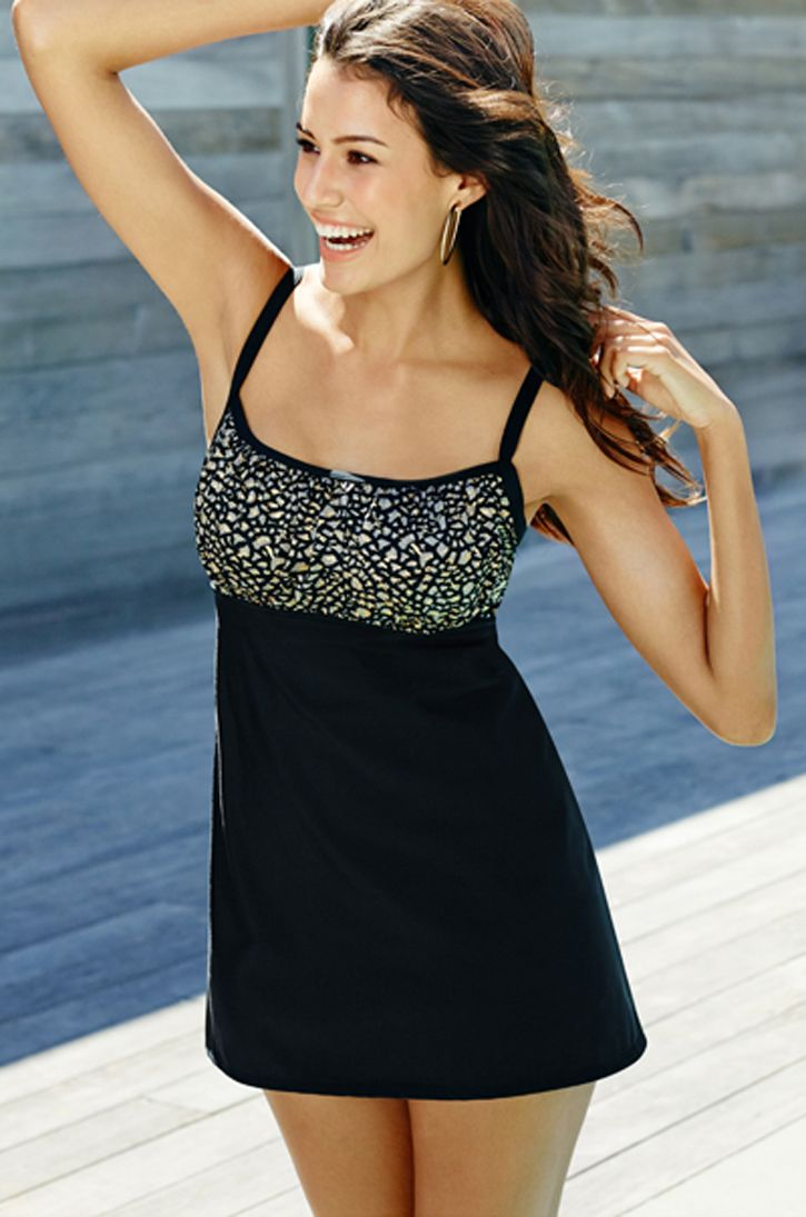 87733819062c6 Chico's Jackie Animal Print Swimdress Swim Dress, Clothing Ideas, Bathing  Suits, Beachwear,