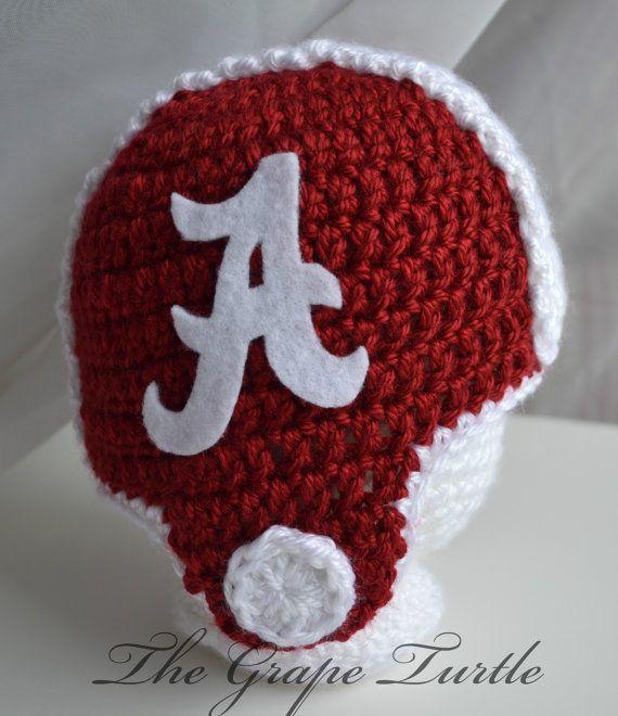 SEC Football Helmet Crochet Beanie Alabama by TheGrapeTurtle, $25.00 ...