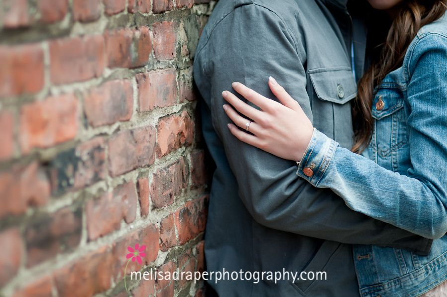 I like this pose, a shot of us embracing and you can see the ring.