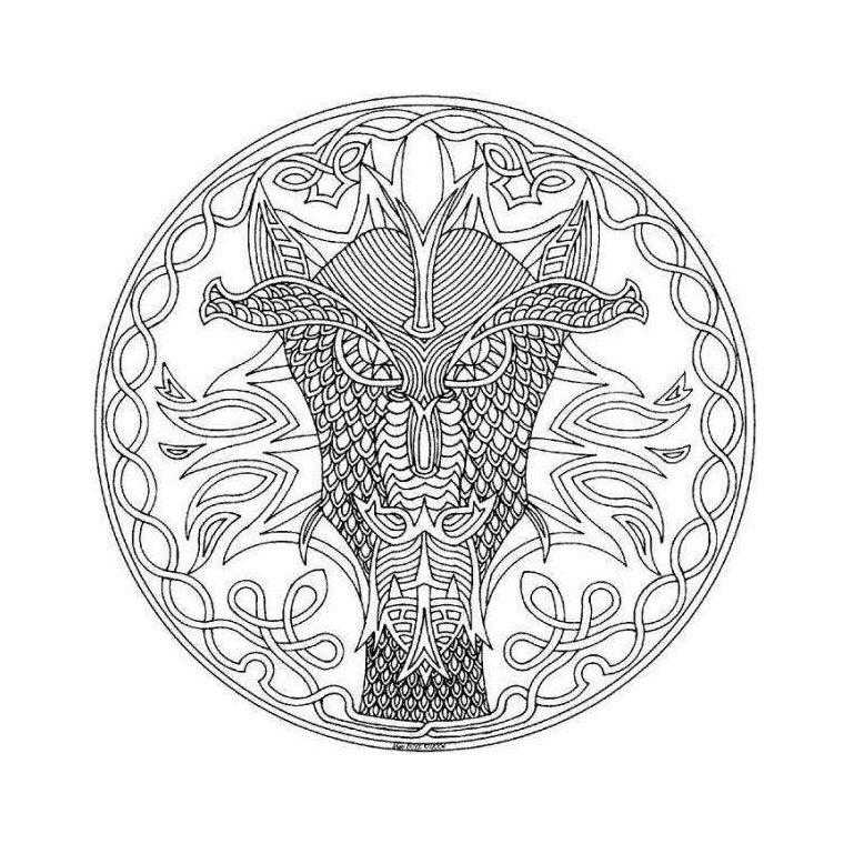 Coloriage Mandala Dragon | Activités manuelles scolaires | Pinterest ...