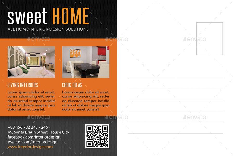3 In 1 Interior Design Postcard Template Bundle 02