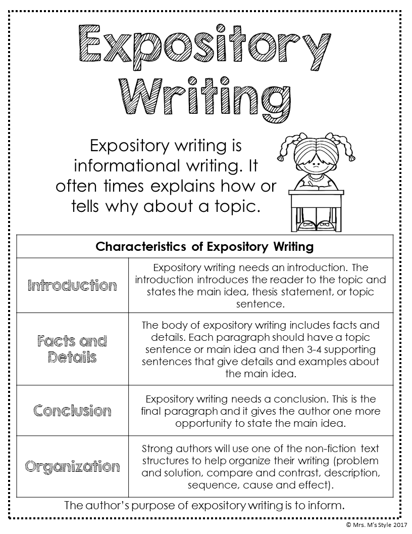 Writing Posters Pinterest Writing Anchor Charts Expository