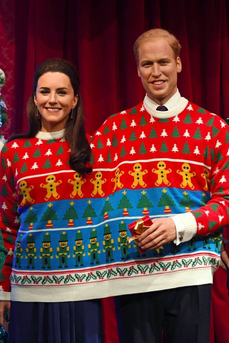 This Photo of the Royals' Wax Figures in Christmas Sweaters Is Here to Slightly Terrify You