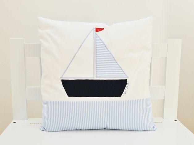 Kinderzimmer Maritim ~ Kissen segelboot maritim kinderkissen kinderzimmer pinterest
