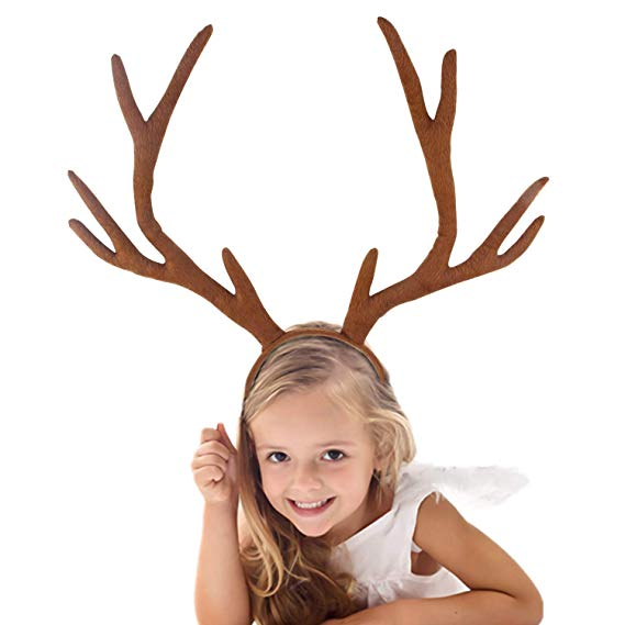 Amazon Com S Suniness Christmas Reindeer Antlers Headband For Holiday Party Or Rudolph Santa Costumes Christmas Fancy Dress Reindeer Costume Rudolph Costume