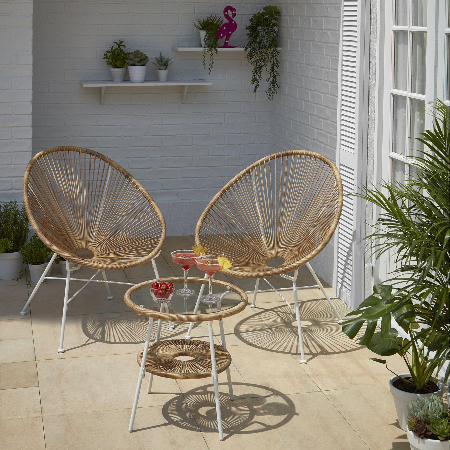 Camden 3 Piece Bistro Set Natural Home Garden George Bistro Set Dining Chairs Diy Inside Plants Decor