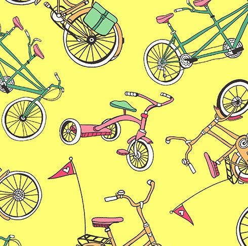 Andover  The Neighborhood  Bicycles by JeanMariesFabrics on Etsy, $11.00